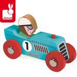 zabawka wyścigówka drewno